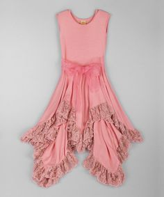 Look at this Pink Lace Handkerchief Dress - Toddler & Girls on #zulily today!