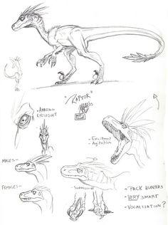 Skull Island Raptor by Matt Frank