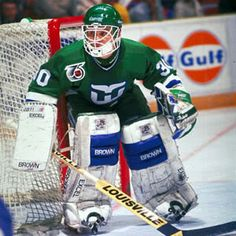 Former Whalers Goalie Peter Sirdwickz Hartford Whalers, Hockey Rules, Goalie Mask, Ice Hockey, Best Games, Nhl, Baseball Cards, Sports, Photos
