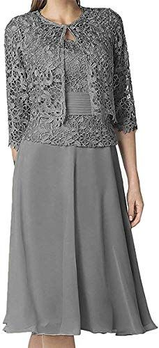 New Women S Tea Length Mother Of Bride Dress With Lace Jacket Foraml Dresses Fashion Womens Dresses 79 99 Mother Of The Bride Dresses Lace Dress Bride Dress