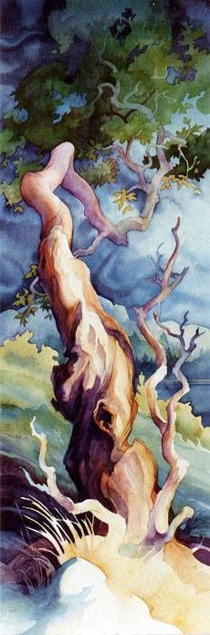 Love this painting! Arbutus Tree painting by Cortes Island BC artist Dianne Bersea Watercolor Trees, Watercolor Landscape, Landscape Art, Watercolor Paintings, Watercolors, Tattoo Watercolor, Painting Art, Arbutus Tree, Tree Of Life Painting