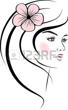 Illustration of beauty woman face. vector art, clipart and stock vectors. Art Visage, Face Design, Design Design, Art Et Illustration, Collaborative Art, Cool Paintings, Art Sketchbook, Face Art, Woman Face