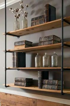 Modern pipe shelving