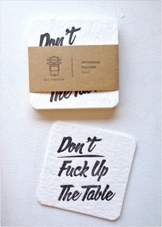 """Products For People Who Won't Be Fucked Over These imperative coasters. Funny for Seth's """"poker nights""""These imperative coasters. Funny for Seth's """"poker nights"""" Just In Case, Just For You, Do It Yourself Home, Grafik Design, First Home, My New Room, Coaster Set, House Warming, Take My Money"""