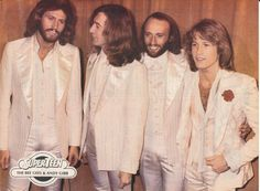 THE BEE GEES...and Andy Gibb...sadly only Barry is alive today.