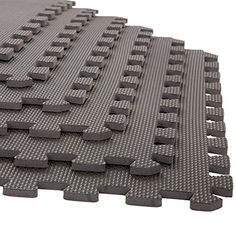 Foam Mat Floor Tiles, Interlocking EVA Foam Padding by Stalwart - Soft Flooring for Exercising, Yoga, Camping, Kids, Babies, Playroom - 6 Pack, 24 x 24 x 0.375 inches, Gray - The Stalwart Interlocking EVA Foam Floor Mats will help reduce fatigue and protect your floors thanks to a .375 inch of thickness. These Multi-Color Floor Mats are perfect for exercise areas, workshops or kids play areas. Give yourself shock-absorbing comfort when doing Yoga, Pilates, Cross Fit o...