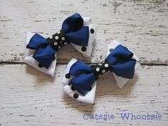 Prizes for the girls: White and Black Polka Dot and Blue Stacked by CutesieWhootsie, $7.00