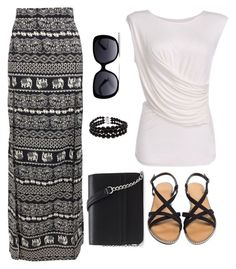 """my style #53 summer casual"" by maryfromnewengland ❤ liked on Polyvore featuring Boohoo, Forever 21 and Pearlz Ocean"