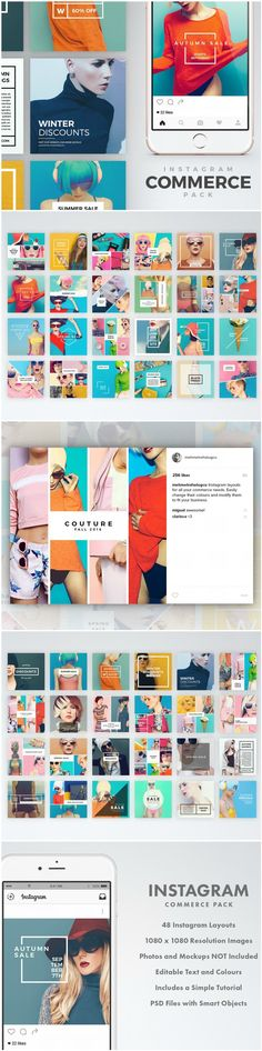 48 unique instagram templates for showcasing your store, advertising discounts or just adding an extra oomph to your posts.