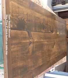 The Warmth Of Dark Walnut Stain On Finished Pine Would