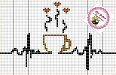 I would do this in all backstitch except for the hearts. Cross Stitch Kitchen, Cross Stitch Heart, Cross Stitch Cards, Counted Cross Stitch Patterns, Cross Stitch Designs, Cross Stitching, Blackwork Embroidery, Cross Stitch Embroidery, Embroidery Patterns