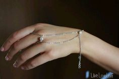 Bridal piece - Pearl embedded Matte Silver Chain Hand Chain / Slave Bracelet   #bridal #jewelry #piece #hand #chain #handchain #pearl #matte #silver #finger #wrist #bracelet #slavebracelet #handmade #handcrafted #boho #bohemian #hobo #trendy #fashion #style #statement #pieces #wedding #unique #uniquejewelry #bridalparty #gift #ideas #giftidea
