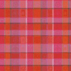 Longue nappe en coton enduit Mille Wax coloris Sunset