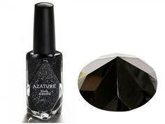 Los Angeles-based luxury jeweler Azature has revealed the most expensive nail polish in the world.    Containing 267-carats of black diamonds, the tiny bottle of varnish has been priced at 250,000 dollars.    Only one bottle will be produced, however, budget 0.5oz versions of the ritzy design, that each contain a single black diamond, will go on sale later this month.    Priced at more reasonable 25 dollars per diamond-shaped bottle, It will be stocked in Fred Segal stores throughout Los…
