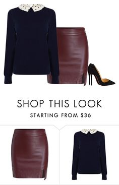 """""""Unbenannt #3709"""" by hitthisfeeling ❤ liked on Polyvore featuring Oasis and Christian Louboutin"""