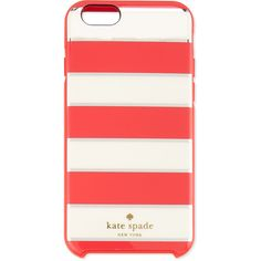kate spade new york metallic edged stripe iPhone 6 case ($42) ❤ liked on Polyvore featuring accessories, tech accessories, phone cases, geranium and kate spade