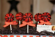 cake pops- if my son is still into basketball we might do a b-ball themed party