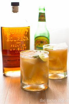 Apple Ginger Bourbon Cocktail   www.themessybakerblog.com