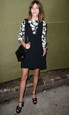 Alexa Chung Shows How To Style Up Our LBDs For Day