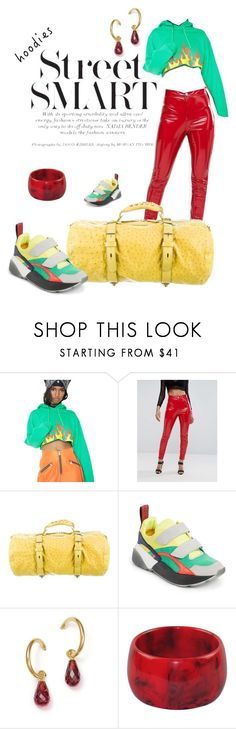 """""""In My Hood 1"""" by fashionedbynature ❤ liked on Polyvore featuring Petals and Peacocks, ASOS, Reed Krakoff, STELLA McCARTNEY, Bloomingdale's and hoodie"""