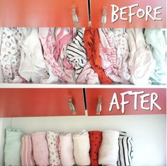 Save space in your drawers by rolling up your baby's clothes.