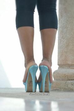 LUPITA'S BLUE 6 INCH MULES