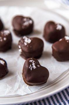 Chocolate Peanut Butter Heart Truffles