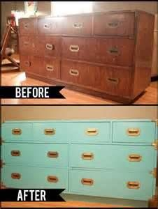Before and after - wood to cool aqua