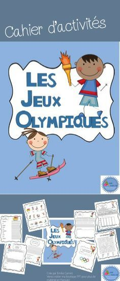Cahier d'activités sur les jeux olympiques d'hiver French Teacher, Teaching French, How To Speak French, Learn French, Youth Olympic Games, Learning A Second Language, French Education, Core French, French Classroom