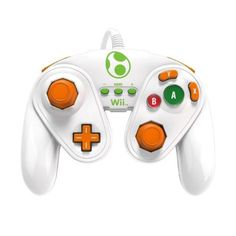 PDP Wired Controller Fight Pad for Wii U Yoshi Super Smash Bros<< are you frikkin' kidding me!? That's just a game cube controller that's white!!!
