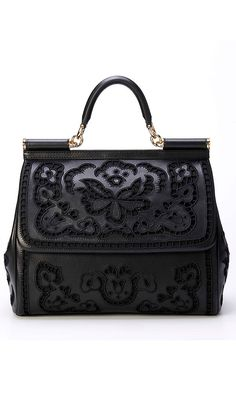 Womens Handbags & Bags : Dolce & Gabbana Luxury Handbags Collection & More Details Dolce & Gabbana, Beautiful Handbags, Beautiful Bags, Luxury Handbags, Purses And Handbags, Kelly Bag, Mk Bags, Shopper, Fashion Bags