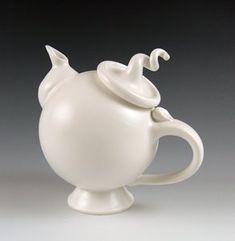 Frosty Mint: Signature Teapot Ceramic Teapot by Lilach Lotan