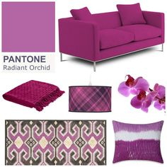 #KatieSheaDesign ♡❤ ❥  Color of the Year 2014 radiant orchid ...Decorate your home with Pantone's Radiant Orchid