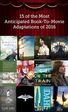 15 Book to Movie Adaptations You'll Want to See