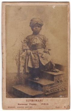 Cabinet Card for Supromani, the Burmese Pigmy from Ringling Bros. c. 1890?