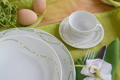 Piatti in porcellana, decoro le Pratoline; idea per #Pasqua. www.ancap.it