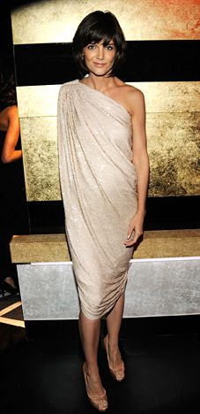 Katie Holmes.  Lanvin.  love everything about this.  add another sleeve and it would be perfection.