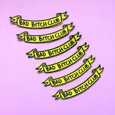 BAD BITCH CLUB Banner 3 wide Iron on Patch by PenelopeMeatloaf