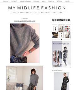 Chunky knitwear & pleated midi skirt