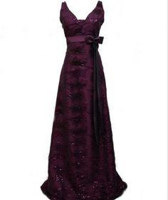NEW UK 8, 12, 14, 16 Dark purple full length evening dress.  Click to buy. Free shipping.