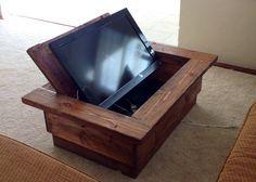 tv hidden in coffee table - Google Search