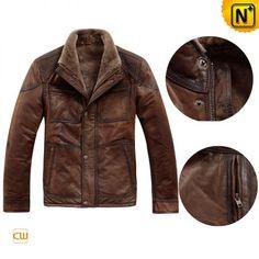 brown leather jacket mens -
