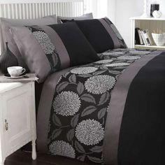 Catherine Lansfield Mei Black Bedding Set - BeddingWorld