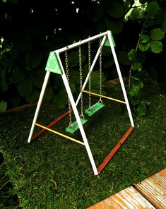 Miniature Dollhouse Swing Set // Scale by artsyemmythecrafter