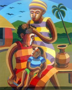 Check Out African Art Galleries. African art culture consists of different art forms created by various tribes. This African tribal art is regarded as one of the finest creations in the world of art. Kunst Online, Online Art, African Artwork, Google Art Project, African Artists, African American Art, Tribal Art, Art Pictures, Art Pics