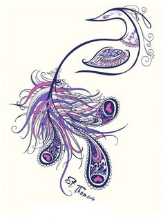 Peacock Tattoo � Very Cool Style An Altered Version Of This Would Be A Perfect Tattoo For Me! - Click for More...