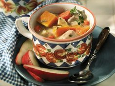 Enjoy a rich stew of pork loin, carrots, parsnips and squash. Best of all your slow cooker does all the work.
