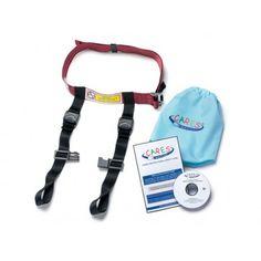 CARES, la prima cintura di sicurezza specifica per bambini creata dalla AmSafe Aviation (leader mondiale nella produzione di cinture di sicurezza per aerei) come alternativa all'utilizzo dei seggiolini auto sugli aerei.