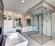 Top 60 Best Master Bathroom Ideas - Home Interior Designs - Bathrooms - Bathroom Decor Luxury Master Bathrooms, Bathroom Design Luxury, Dream Bathrooms, Home Interior Design, Small Bathrooms, Master Bathroom Designs, Luxury Master Bedroom, Mansion Bathrooms, Modern Luxury Bathroom