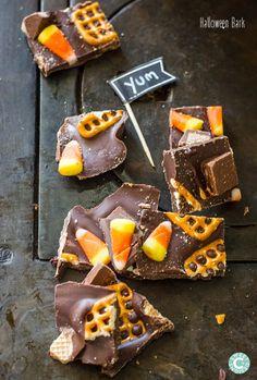 Halloween Candy Chocolate Bark Recipe